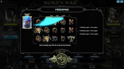 Nord's War Fun Slots by Booongo with 5 Reel and 20 Line