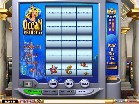 Ocean Princess Fun Slots by PlayTech with 3 Reel and 1 Line