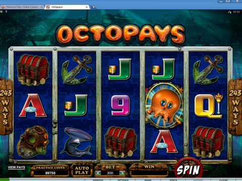 Octopays Fun Slots by Microgaming with 5 Reel and 243 Line