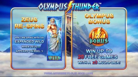 Olympus Thunder Fun Slots by Nyx Interactive with 5 Reel and 20 Line
