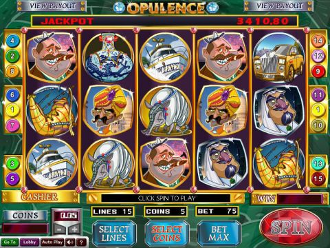 Opulence Fun Slots by Wizard Gaming with 5 Reel and 15 Line