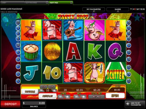Party Pigs Fun Slots by 888 with 5 Reel and 20 Line