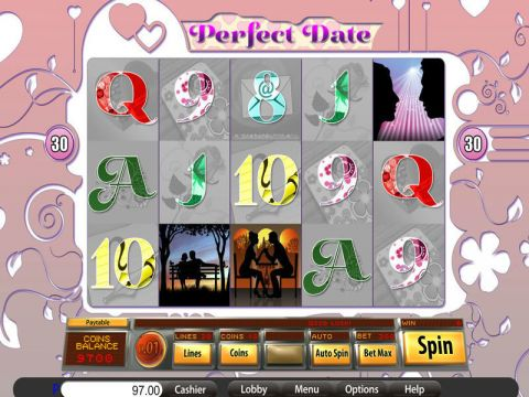 Perfect Date Fun Slots by Saucify with 5 Reel and 30 Line