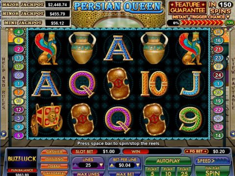 Persian Queen Fun Slots by NuWorks with 5 Reel and 25 Line