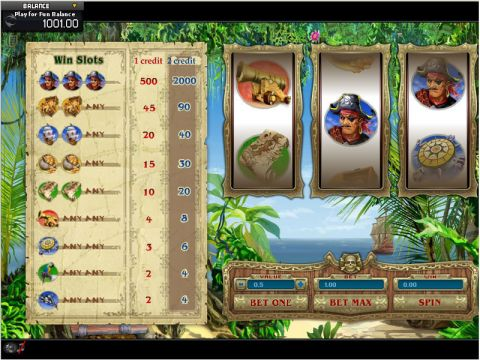 Pirate Fun Slots by GamesOS with 3 Reel and 1 Line