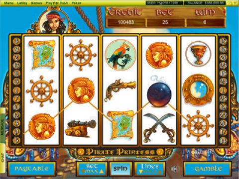 Pirate Princess Fun Slots by Player Preferred with 5 Reel and 25 Line