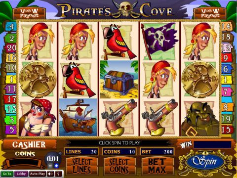 Pirate's Cove Fun Slots by Wizard Gaming with 5 Reel and 20 Line