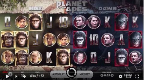 Planet of Apes Fun Slots by NetEnt with 5 Reel and 20 Line