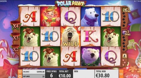 Polar Paws Fun Slots by Quickspin with 5 Reel and 25 Line