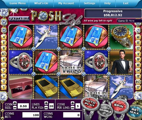 Posh Life Fun Slots by Leap Frog with 5 Reel and 20 Line
