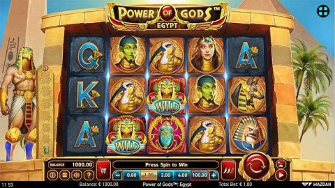 Power of Gods: Egypt Fun Slots by Wazdan with 5 Reel and 243 Line