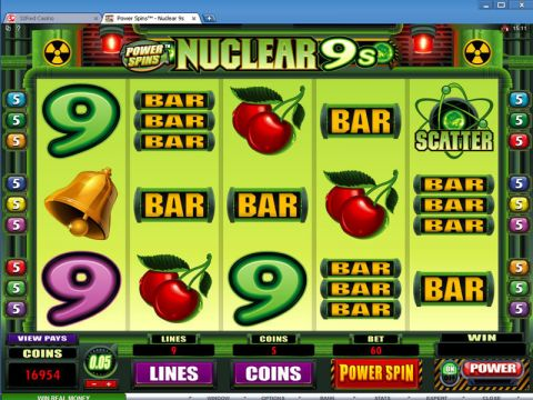 Power Spins - Nuclear 9's Fun Slots by Microgaming with 5 Reel and 9 Line