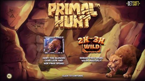 Primal Hunt Fun Slots by BetSoft with 5 Reel and 80 Line