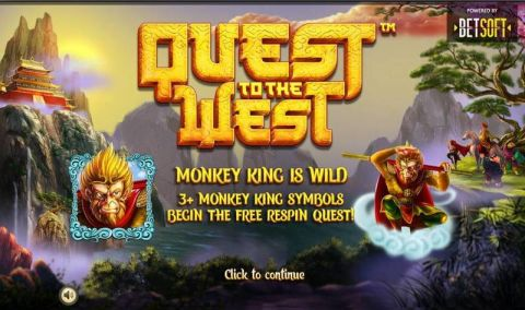 Quest to the West Fun Slots by BetSoft with 5 Reel and 25 Line