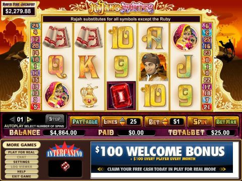 Rajah's Rubies Fun Slots by CryptoLogic with 5 Reel and 25 Line
