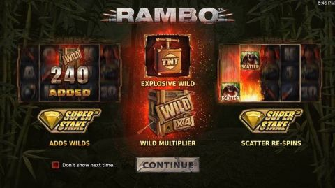 Rambo Fun Slots by StakeLogic with 5 Reel and 20 Line