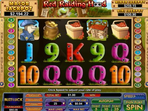 Red Raiding Hood Fun Slots by NuWorks with 5 Reel and 25 Line