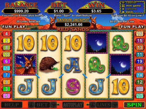 Red Sands Fun Slots by RTG with 5 Reel and 20 Line