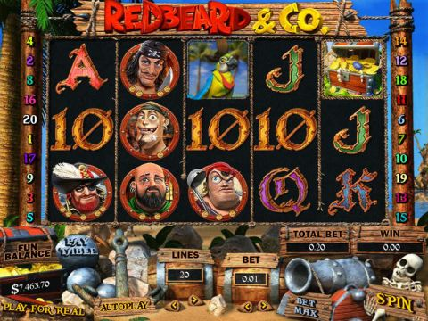 Redbeard and Co Fun Slots by Topgame with 5 Reel and 20 Line