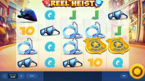 Reel Heist Fun Slots by Red Tiger Gaming with 5 Reel and 40 Line
