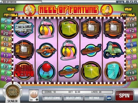 Reel of Fortune Fun Slots by Rival with 5 Reel and 20 Line