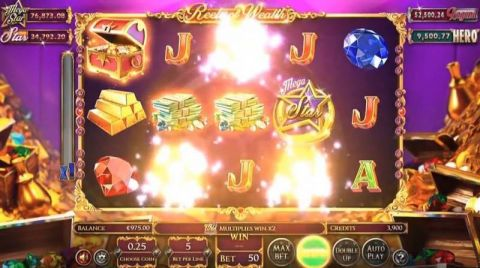Reels of Wealth Fun Slots by BetSoft with 5 Reel and 10 Line