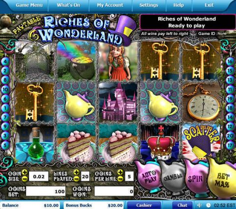 Riches of Wonderland Fun Slots by Leap Frog with 5 Reel and 20 Line