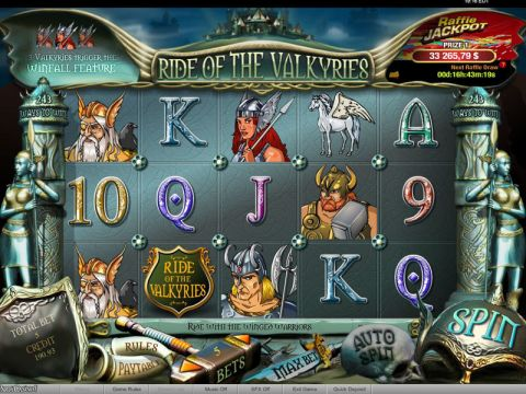Ride of the Valkyries Raffle Fun Slots by bwin.party with 5 Reel and 243 Line