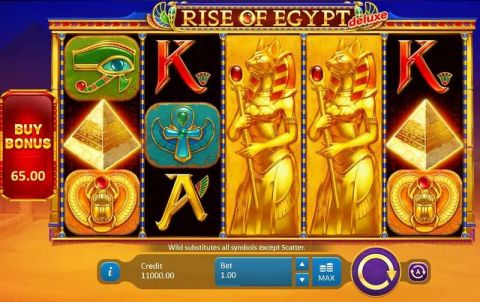 Rise of Egypt Deluxe Fun Slots by Playson with 5 Reel and 20 Line