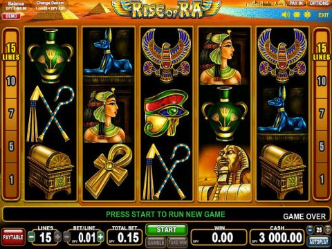 Rise of Ra Fun Slots by EGT with 5 Reel and 15 Line