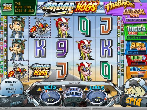 Road Hogs Fun Slots by bwin.party with 5 Reel and 50 Line