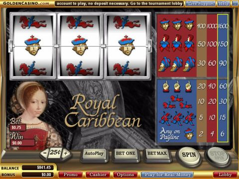 Royal Caribbean Fun Slots by WGS Technology with 3 Reel and 1 Line
