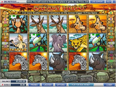 SafariHunt Fun Slots by Vegas Technology with 5 Reel and 20 Line