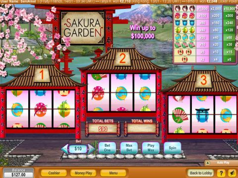 Sakura Garden Fun Slots by NeoGames with 3 Reel and 1 Line