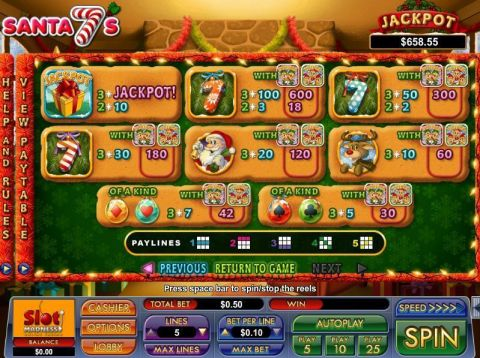 Santa 7's Fun Slots by NuWorks with 3 Reel and 5 Line