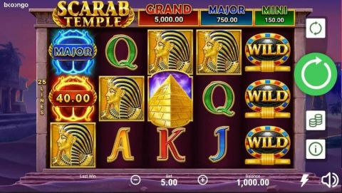 Scarab Temple Fun Slots by Booongo with 5 Reel and 25 Line