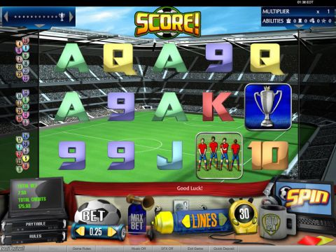 Score! Fun Slots by bwin.party with 5 Reel and 30 Line