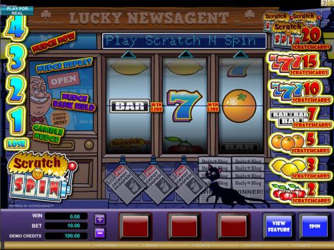Scratch n Spin Fun Slots by Microgaming with 3 Reel and 1 Line