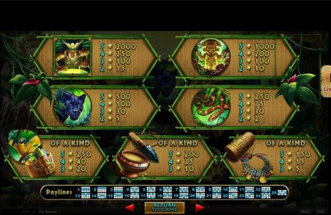 Secret Symbol Fun Slots by RTG with 5 Reel and 25 Line