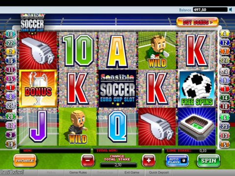 Sensible Soccer Fun Slots by Ash Gaming with 5 Reel and 25 Line