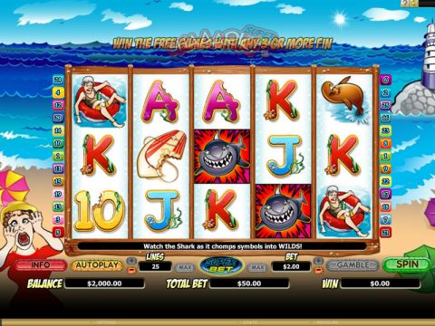Shaaark! Super Bet Fun Slots by Microgaming with 5 Reel and 25 Line