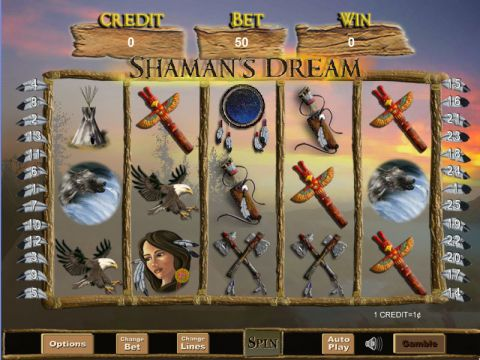 Shaman's Dream Fun Slots by Eyecon with 5 Reel and 25 Line