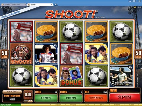 Shoot! Fun Slots by Microgaming with 5 Reel and 50 Line