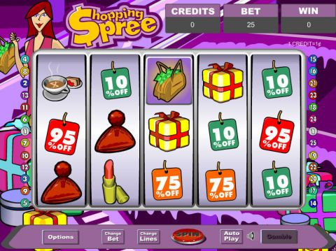 Shopping Spree Fun Slots by Eyecon with 5 Reel and 25 Line