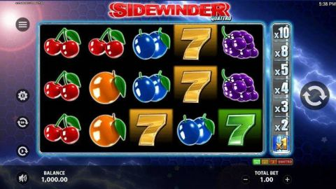 Sidewinder Quattro Fun Slots by StakeLogic with 5 Reel and 10 Line