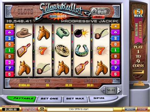 Silver Bullet Fun Slots by PlayTech with 5 Reel and 9 Line