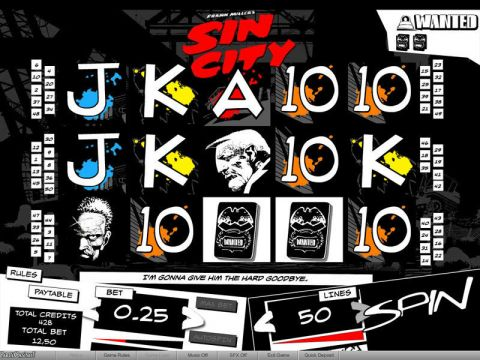 Sin City Fun Slots by bwin.party with 5 Reel and 50 Line