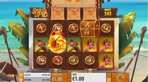 Skulls UP! Fun Slots by Quickspin with 5 Reel and 243 Line