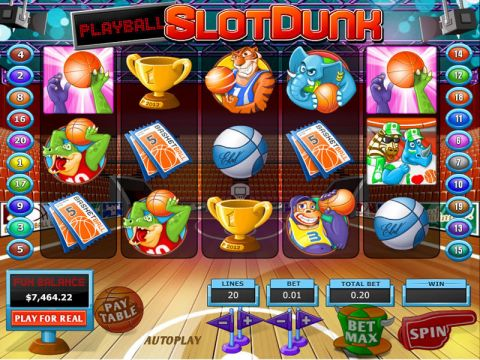 Slot Dunk Fun Slots by Topgame with 5 Reel and 20 Line