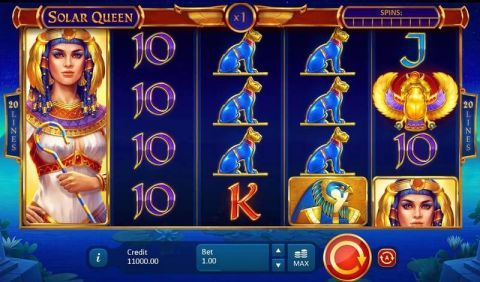 Solar Queen Fun Slots by Playson with 5 Reel and 20 Line